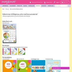 Vårt arkiv med bonusövningar och material till dina läroböcker. Majema - köp läromedel och kalendrar för lärare online