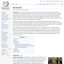 Boobquake