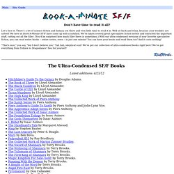 Book-A-Minute SF/F