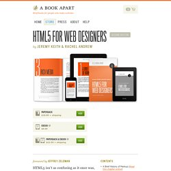 A Book Apart, HTML5 For Web Designers