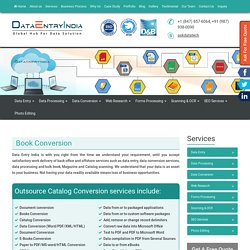Book and PDF Conversion Service India