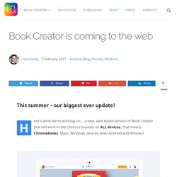 Book Creator is coming to the web - Book Creator app