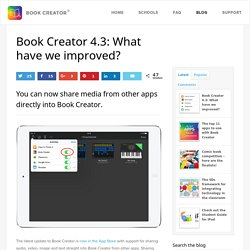 Book Creator 4.3: What have we improved?