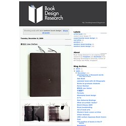 Book Design Research: eastern book design