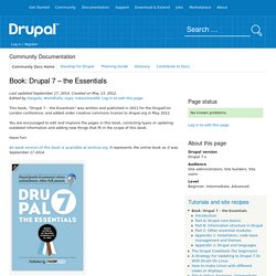 Book: Drupal 7 – the Essentials