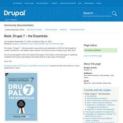 Book: Drupal 7 – the Essentials