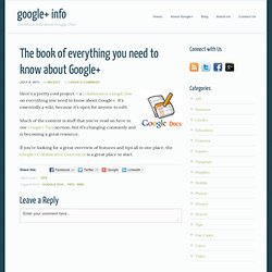 The book of everything you need to know about Google+