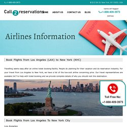 Book Flights from Los Angeles to New York