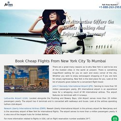 For better opportunities take Flights From New York City to Mumbai