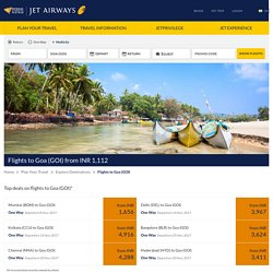 Book flights to Goa (GOI) starting from INR 1529