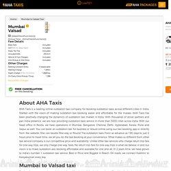 Book Mumbai to Valsad Taxi @ Rs. 2886