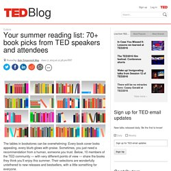 70+ book picks from TED speakers and attendees