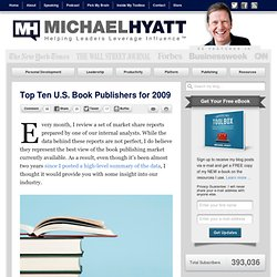Top Ten U.S. Book Publishers for 2009