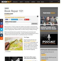 Book Repair 101