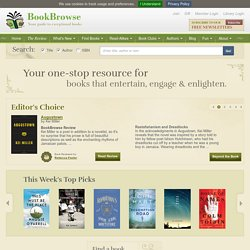 BookBrowse.com: More than 20,000 book reviews, reader reviews, critic's reviews, book excerpts and more.