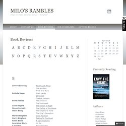 Book Reviews | Milo's Rambles