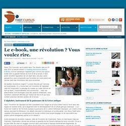 Le e-book, une révolution ? Vous voulez rire.