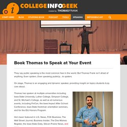 Book Thomas to Speak at Your Event