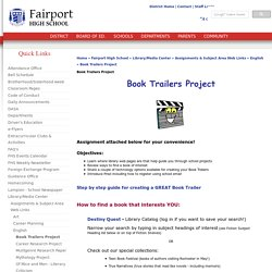 Book Trailers Project