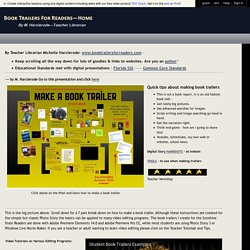 Book Trailers for Readers - How to make a book trailer