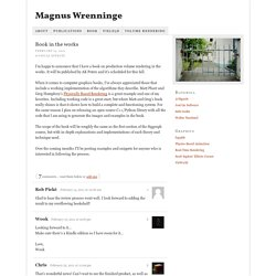 Book in the works — Magnus Wrenninge