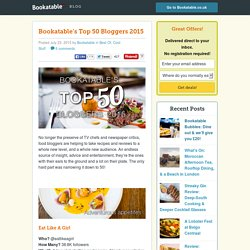 Bookatable's Top 50 Bloggers 2015