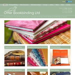Otter Bookbinding - Otterbookbinding | General and Craft bookbinders
