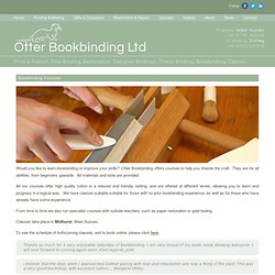 Bookbinding Courses - Otterbookbinding | General and Craft bookbinders