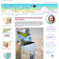 Bookbinding Tutorial Accordion Book Photo Album « In the Studio