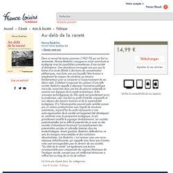 Au-delà de la rareté - Murray Bookchin - Librairie numérique