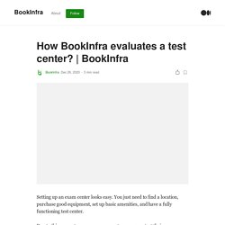 How BookInfra evaluates a test center?