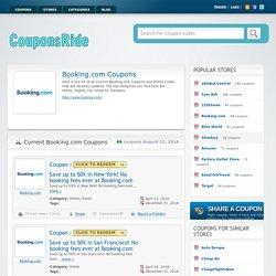Booking.com Coupon 20%, 10% Discount Code 2016