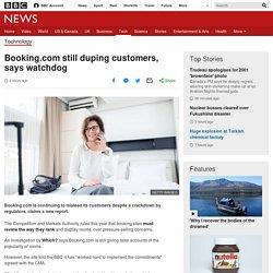 Booking.com still duping customers, says watchdog