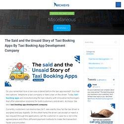 Best Taxi Booking App Development Company