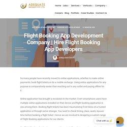 Hire Flight Booking App Developers - Booking App Development
