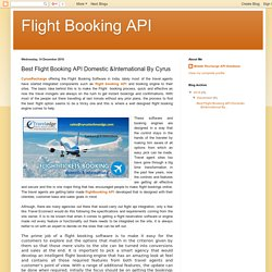 Flight Booking API: Best Flight Booking API Domestic &International By Cyrus