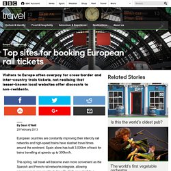 Travel - Top sites for booking European rail tickets