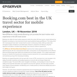 Booking.com best in the UK travel sector for mobile experience - EPiServer