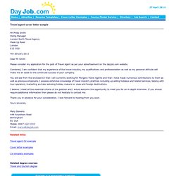 Beautiful Travel Agent Cover Letter Sample, Text Font, Booking Holidays, Paragraphs,  Address,