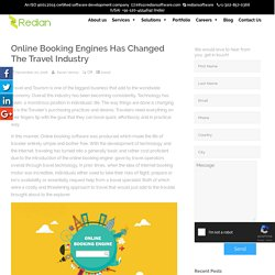 Online booking engines has changed the travel industry