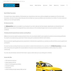 Taxi booking in at Lowest Cost in st kilda taxi