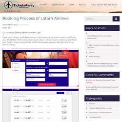 Booking Process of Latam Airlines -