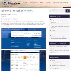 Booking Process of Aeroflot -