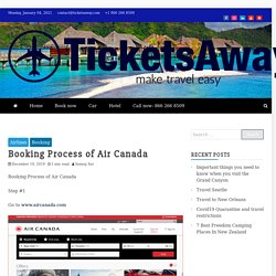 Booking Process of Air Canada -