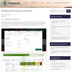 Booking Process of Alitalia -