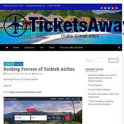 Booking Process of Turkish Airline -