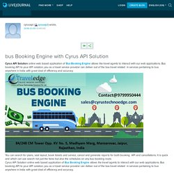 India Bus Booking Software With API- Cyrus API Solution