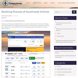 Booking Process of Southwest Airlines -