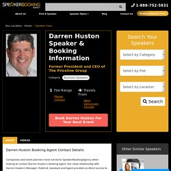 Darren Huston's Booking Agent and Speaking Fee - Speaker Booking Agency