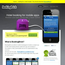 BookingBrick , White label hotel booking solution for mobile apps